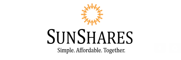 SunShares logo white