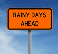 rainy days sign