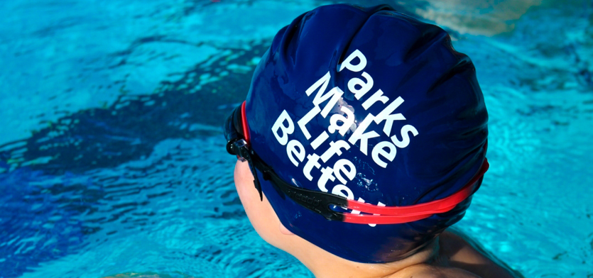 Parks Make Life Better Swim Cap